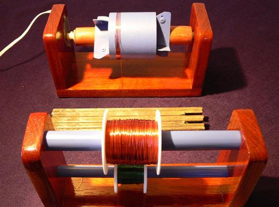 Imagem mostra a bobina em processo automatico de erolamento