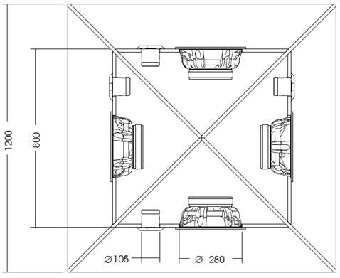 Projetos para carro de som com alto-falantes de 10, 12 e 15 polegadas